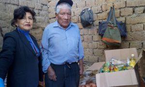 Beneficencia Huaraz entrega víveres a anciano abandonado