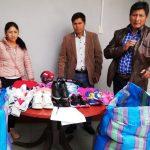 Sociedad de Beneficencia de Huaraz entrega donativo a Municipalidad de Coyllur