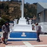Realizan Pintado del Calvario del Cementerio de Huaraz