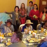 Damas del pinar de grupo Rosario visitan a los adultos del Asilo