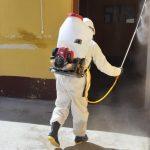 Desinfección de ambientes del Asilo y sede central de la Beneficencia de Huaraz